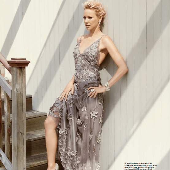 Naomi Watts As Seen Wearing A Pair of pearl mesh & Diamond Cuffs - Alexandra Mor online
