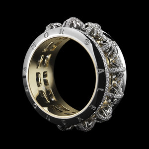 Load image into Gallery viewer, Signature Diamond Snowflake Narrow Eternity Band