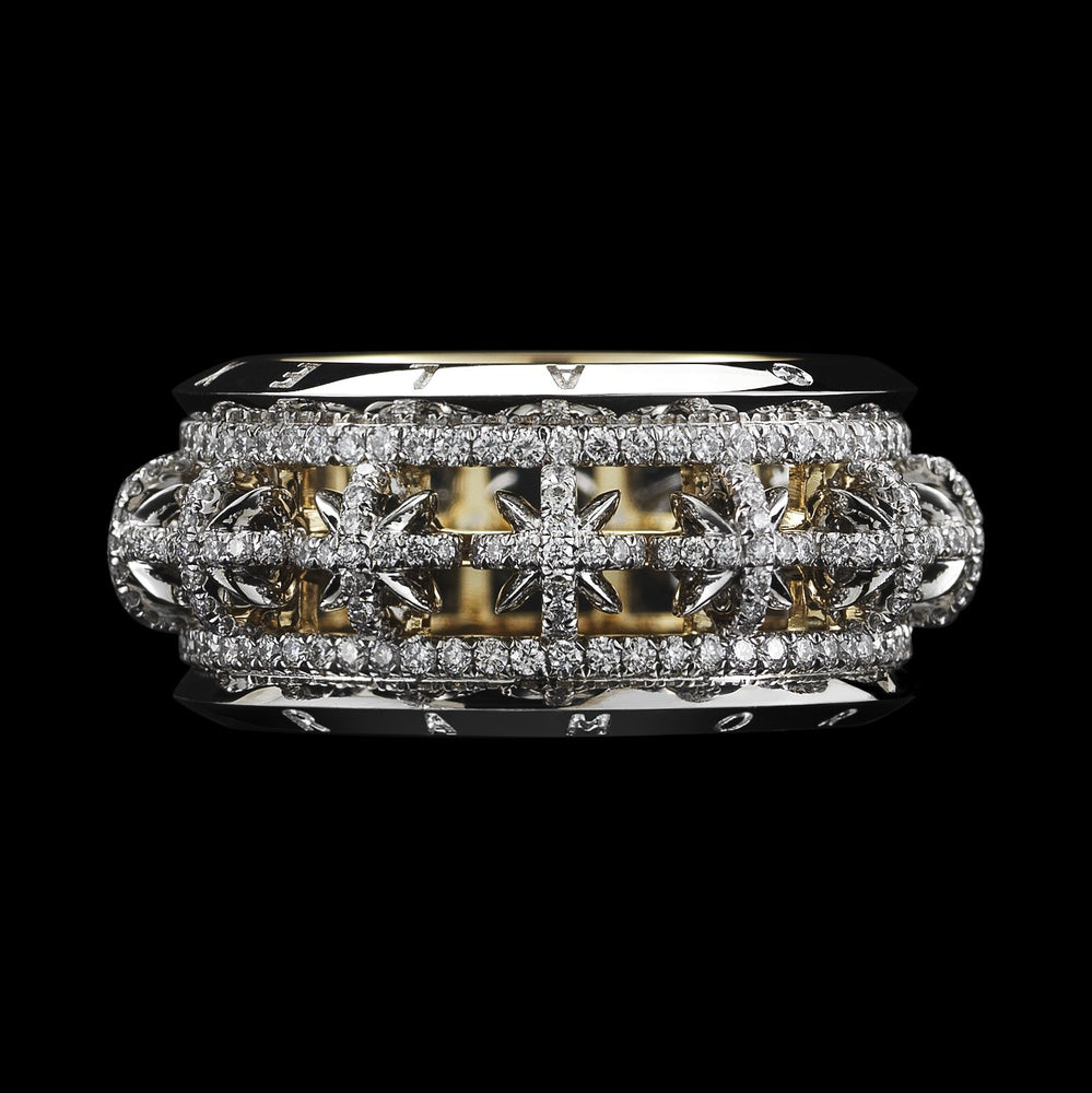 Signature Diamond Snowflake Narrow Eternity Band - Alexandra Mor online