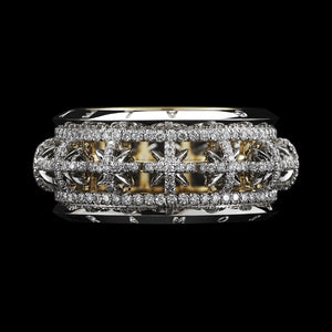 Signature Diamond Snowflake Narrow Eternity Band