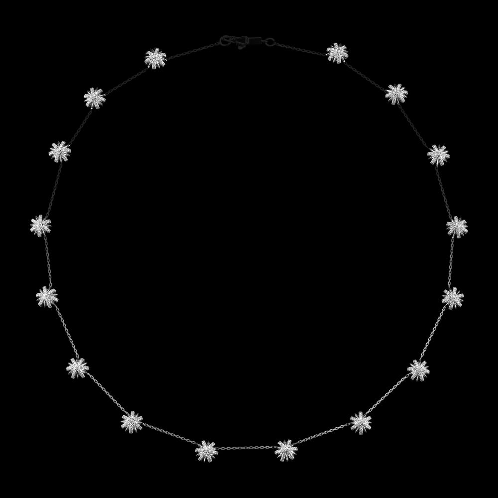 Platinum Snowflake Elements Chain