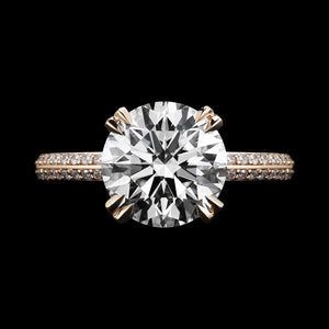 Rose Gold Brilliant-Cut Diamond Engagement Ring - Alexandra Mor online