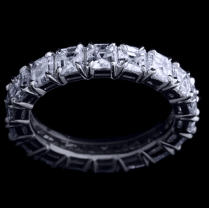 Asscher-Cut Diamond Eternity Band - Alexandra Mor online