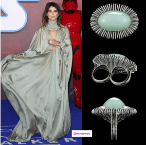 Load image into Gallery viewer, Keri Russel As Seen Wearing Andean Opal Oval-Cabochon & Diamond Ring - Alexandra Mor online