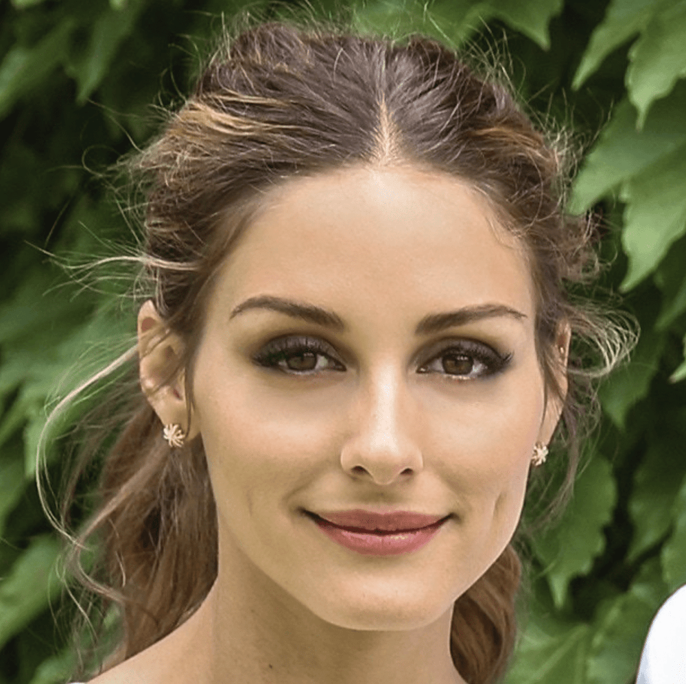 Olivia Palermo As Seen Wearing Large Yellow Gold Diamond Snowflake Earrings