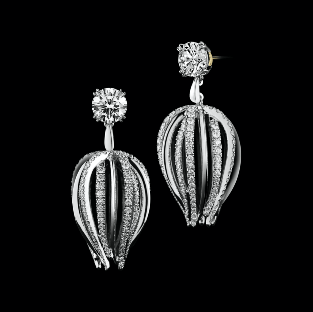 Curved Diamond Petite Earrings - Alexandra Mor online