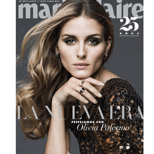 Olivia Palermo as Seen Wearing Black Diamond Briolette Hoop Earrings