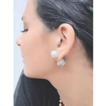 Double Sided Tribal Studs & South Sea Artisanal Farm Pearls & Tagua - Alexandra Mor online