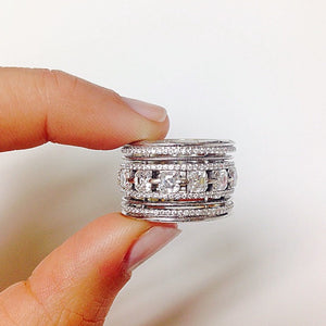 Danati Gurira As Seen Wearing Asscher-Cut Diamond Wide Eternity Band - Alexandra Mor online