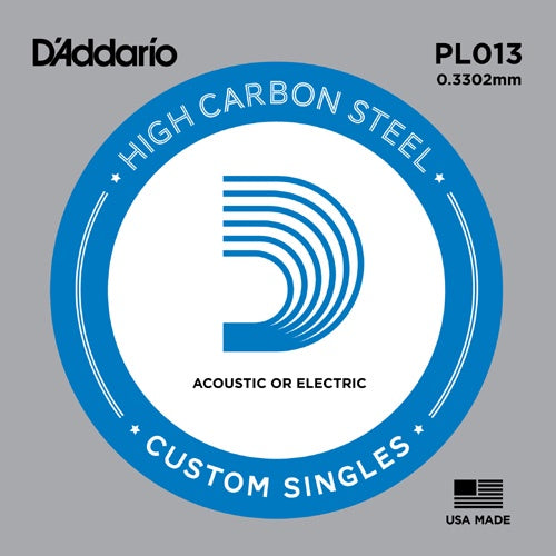 D'Addario PL013 Plain Steel Guitar Single String