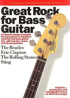 Great Rock For Bass Guitar Book