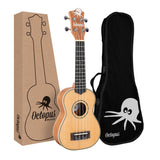 Octopus Mahogany Soprano Ukulele with Solid Spruce Top
