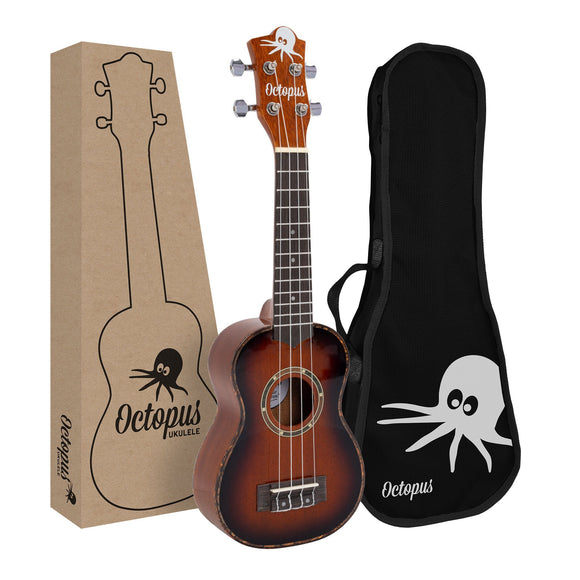 Octopus Mahogany Soprano Ukulele in Gloss Finish