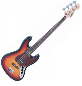 Vintage VJ74 ReIssued Maple F/Board Bass ~ Sunset Sunburst VINTAGE VJ74 REISSUED MAPLE F/BOARD BASS ~ SUNSET SUNBURST