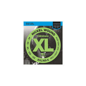 EXL165-5 Nickel Wound Bass Strings. 45.65.85.105.135
