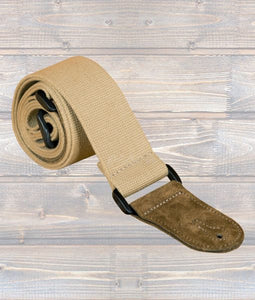 Cotton Webbing Guitar Strap - Beige