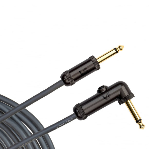 D'Addario Circuit Breaker Instrument Cable, Right-Angle, 20 feet