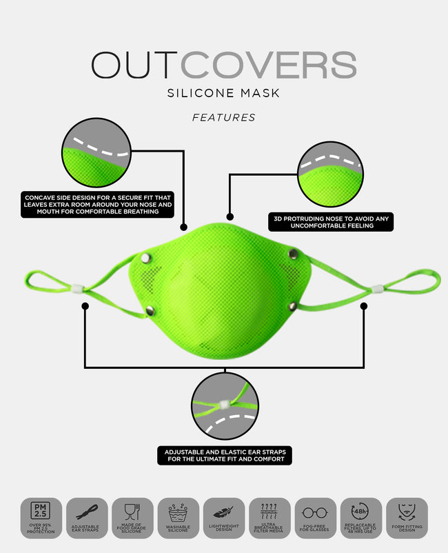 [PRE-ORDER] Outcovers KN95 in Kid Green - Outcovers (Nextperience Shop)