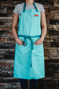 Turquoise Blue Ice Cream Apron - Cooks Who Feed Inc
