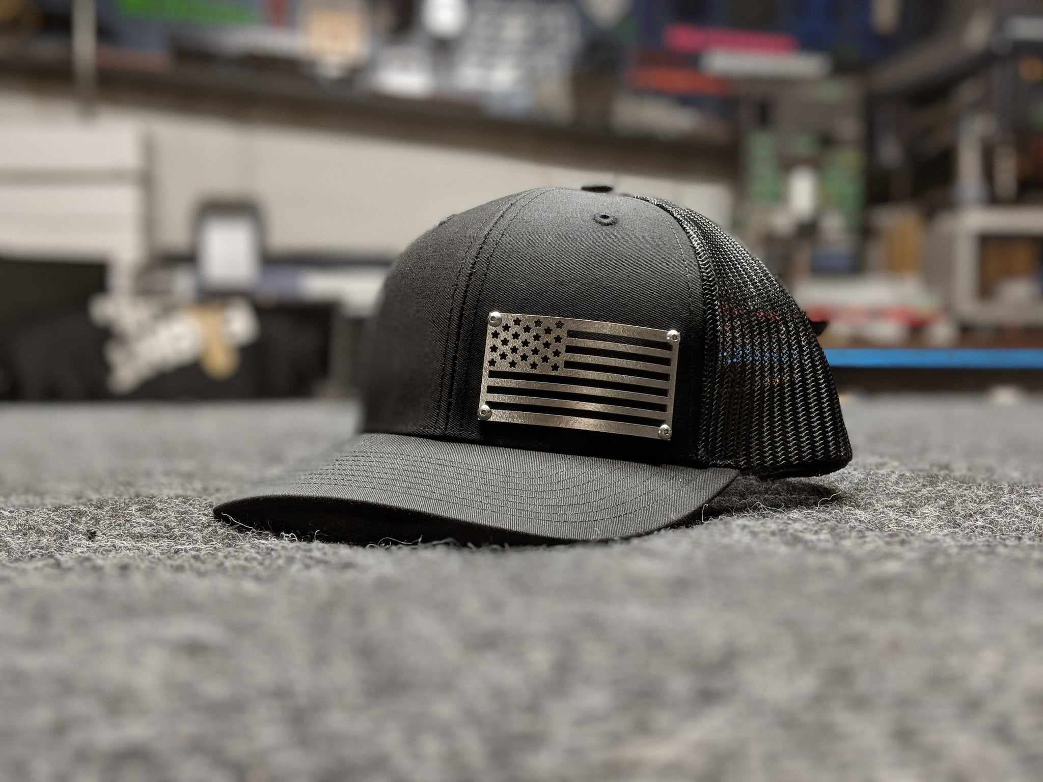 American Flag Stainless Steel HeadGear Hat