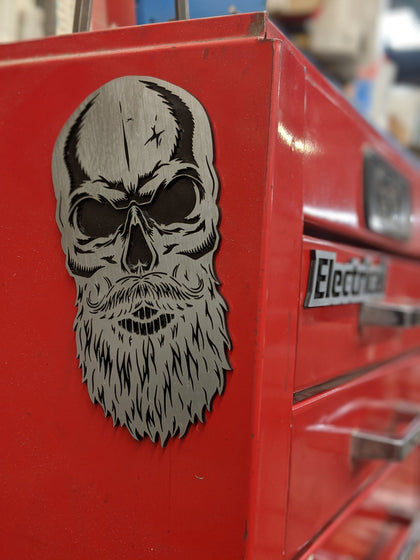 Custom Toolbox Drawer Emblems - Bearded Skull