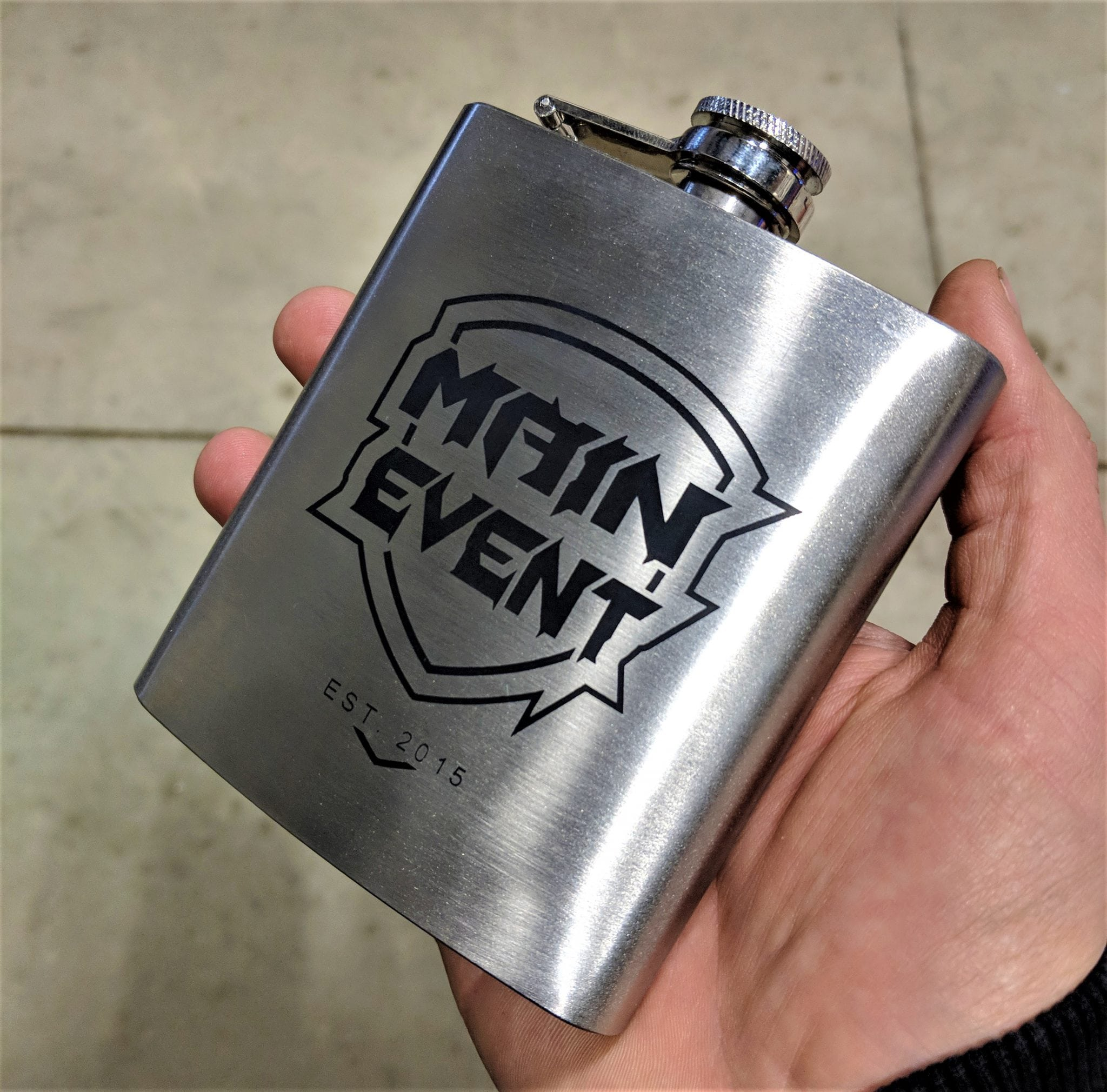 Main Event Stainless Steel Flask