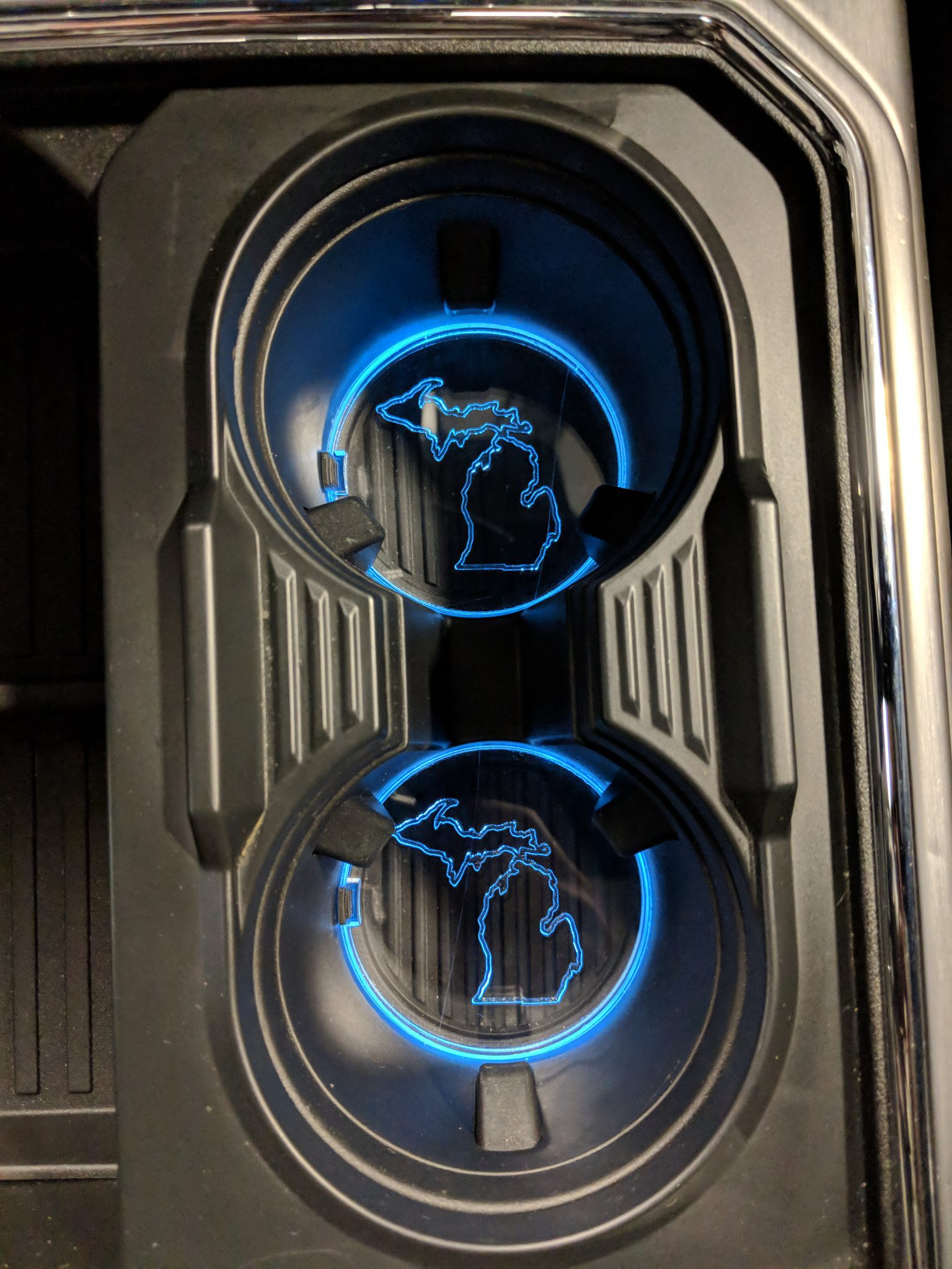 Cupholder Insert - Michigan State Outline- Fits 2017+ F250®/F350®/F450®