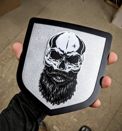 Bearded Skull Stainless Steel Emblem