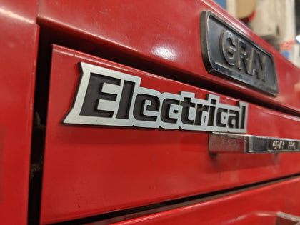 Custom Toolbox Drawer Emblems - Electrical
