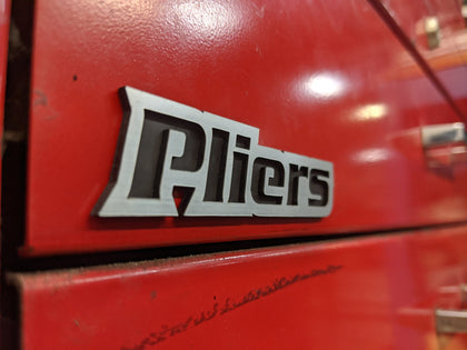 Custom Toolbox Drawer Emblems - Pliers