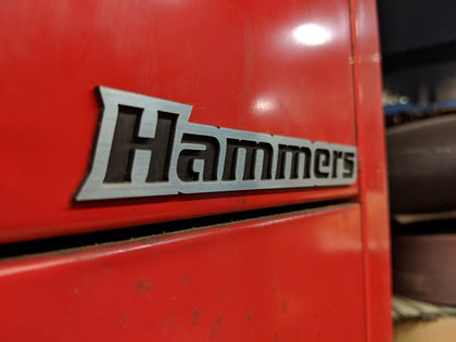 Custom Toolbox Drawer Emblems - Hammers