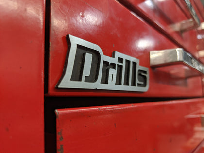 Custom Toolbox Drawer Emblems - Drills