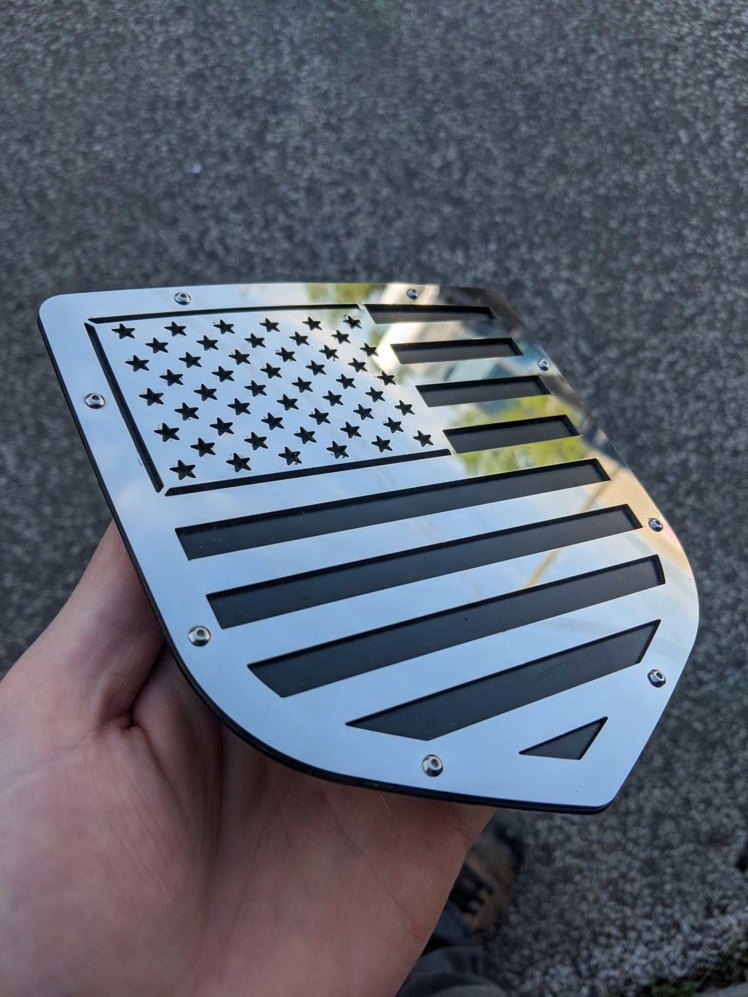 Ready to Ship - Polished American Flag Grille and Tailgate Set - Fits 2013-2018 Ram®