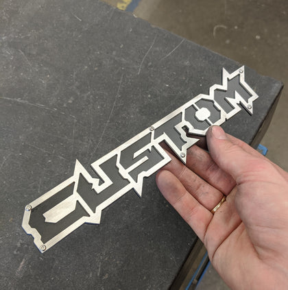 Custom Badge - Brushed on Black