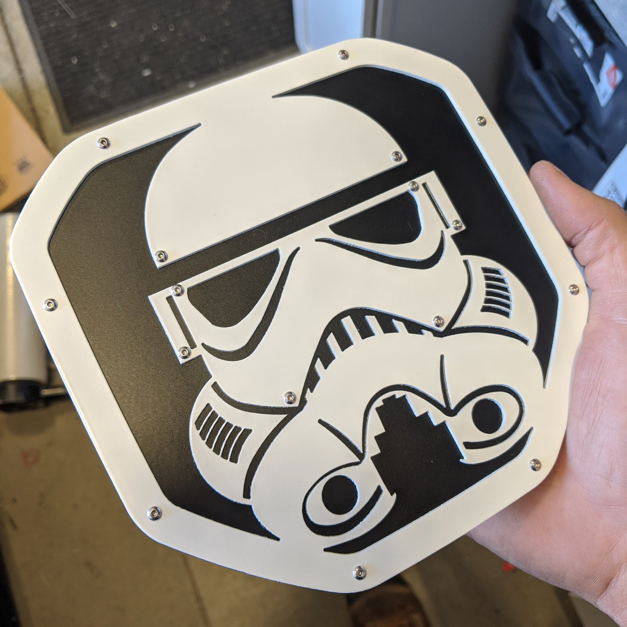 Stormtrooper Tailgate Badge - 19-20 Ram® - White and Black