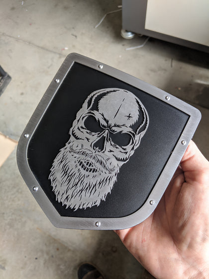 Ready to Ship - Bearded Skull Tailgate Emblem - Fits 2009-2018 Ram® 1500, 2500, 3500