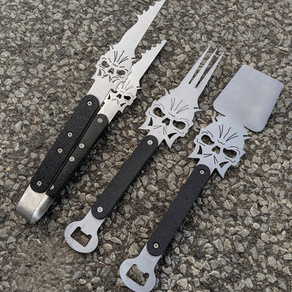 Skull BBQ Utensils - Set of Three