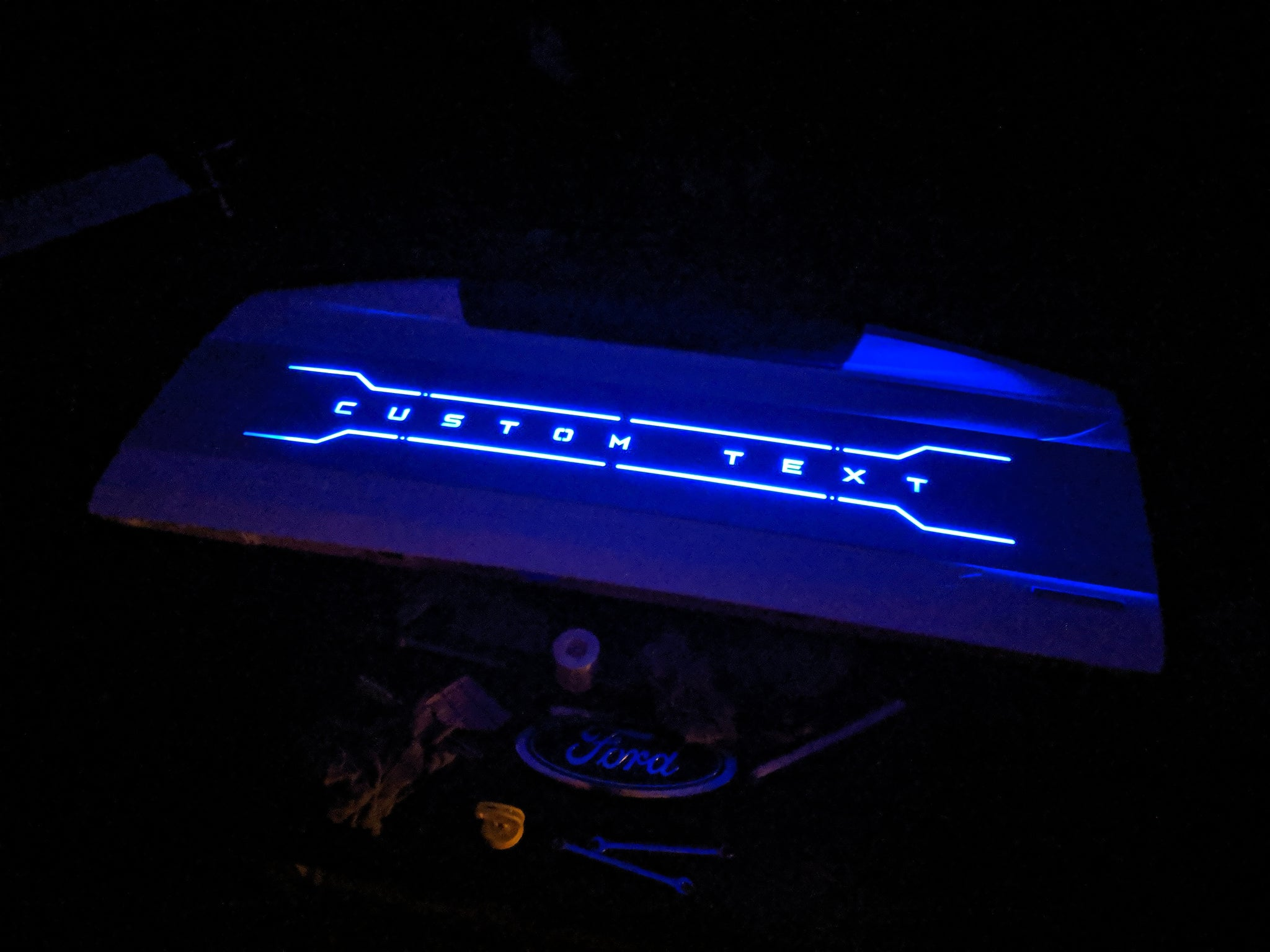 Custom Text LED Tailgate Panel - Fits 2017-2019 Super Duty®