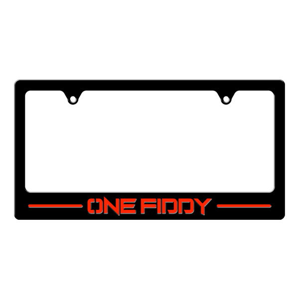 One Fiddy License Plate Border