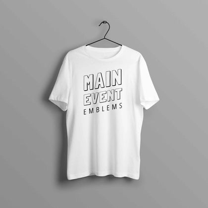 Premium Main Event Emblems Text Tee