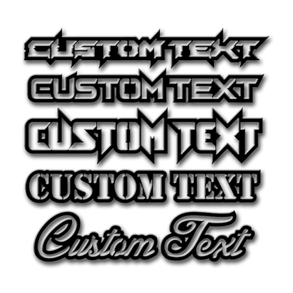 Custom Single Layer Text Emblem - Up to 12 Characters