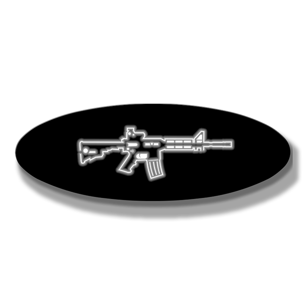 "AR15 Oval Replacement - Illuminated - 9"" - Fits Multiple Vehicles"