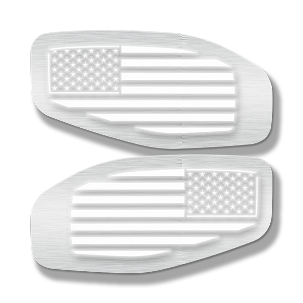 LED Side Fender Badge Replacements - American Flag - Fits 2016-2020 Nissan Titan®