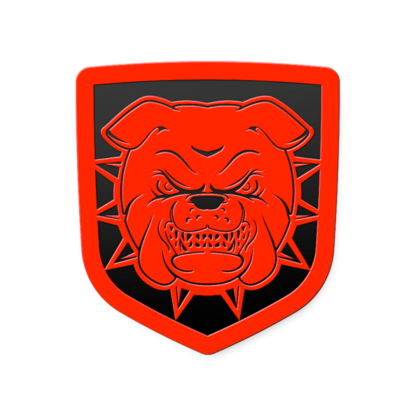 Bulldog Tailgate Badge