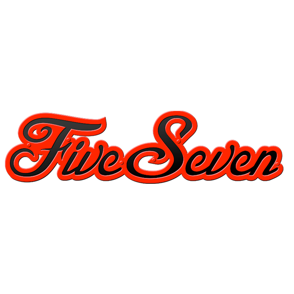 Five Seven Script Badge