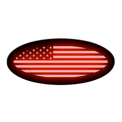 American Flag Oval Replacement - Illuminated - 9