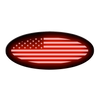 American Flag Oval Replacement - Illuminated - Fits 2017+ Ford® Super Duty®