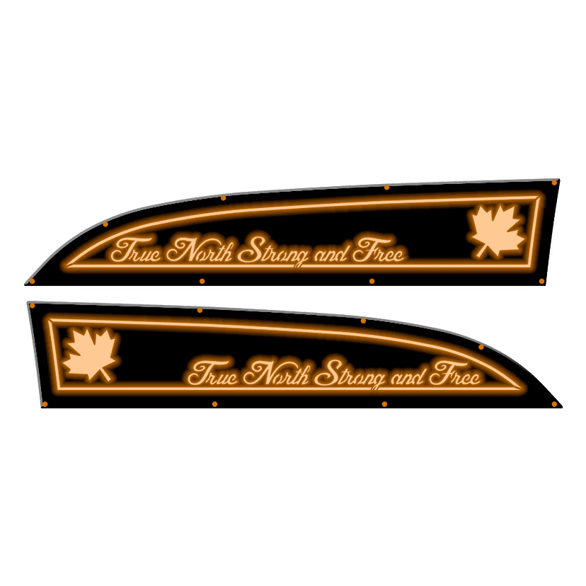 Fender Badges Replacements - Canada True North LED - Fits 11-16 Ford® Super Duty®
