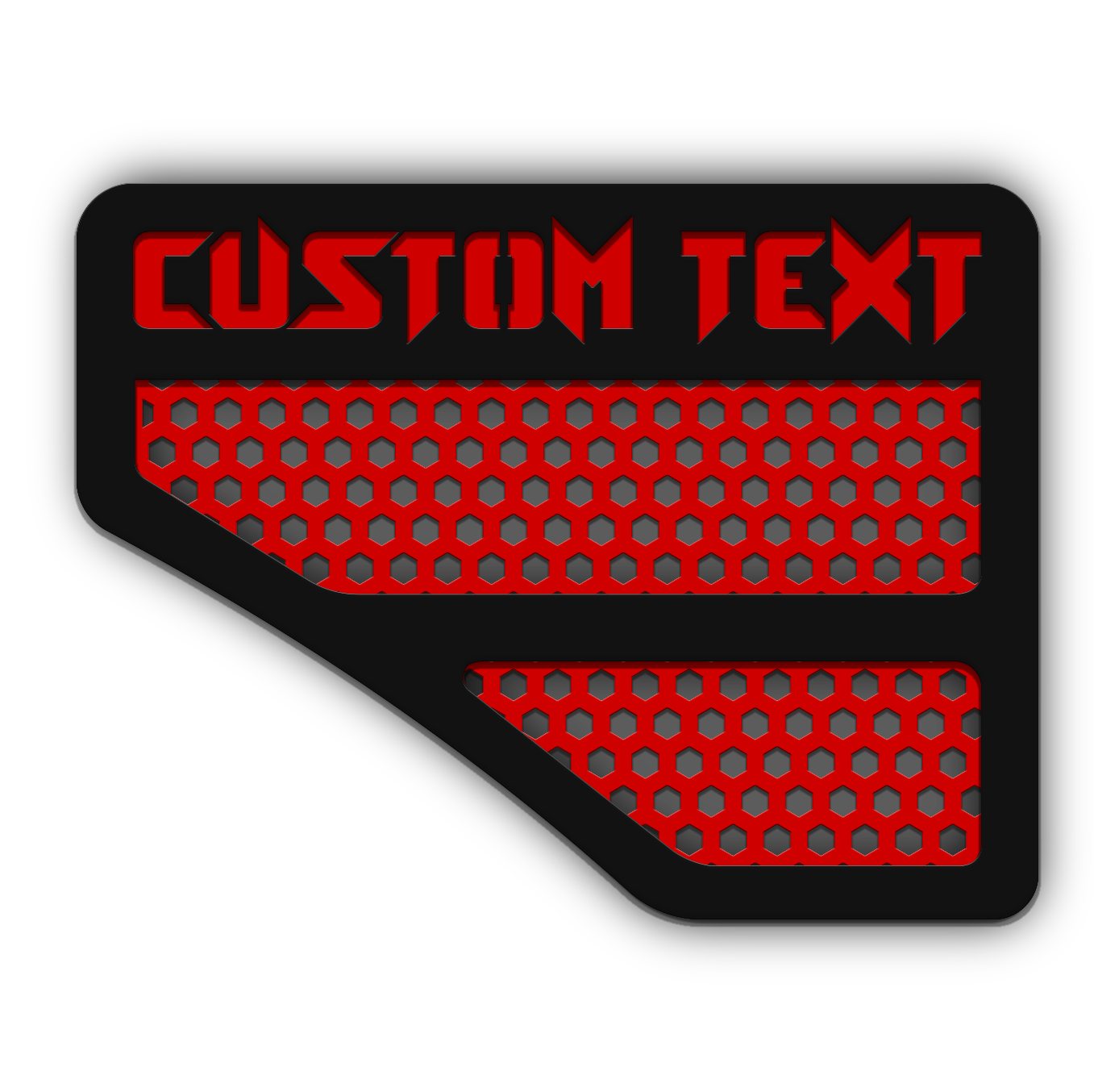 Custom Text Fender Emblems – Fits 08-10 Super Duty® – Hex
