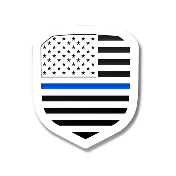 American Flag Thin Blue Line Grille Emblem (Fits 2013-2018 Ram®)